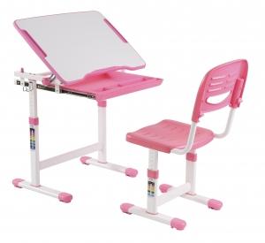 Scaun si birou pt. copii roz C3